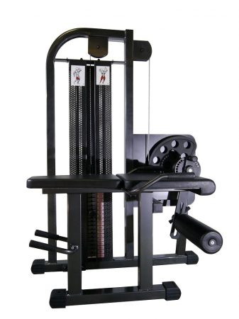 Sitting leg extension - lying curl machine combi