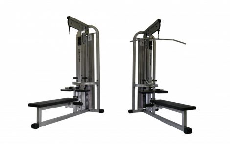 Lat pully - long pully machine combi