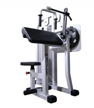 Triceps machine, sitting 45°
