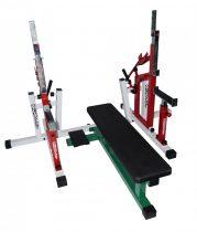 Powerlifting fekpad+guggoló állvány kombi VERSENY CÉLRA
